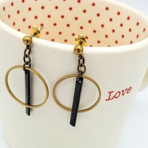 Hoop & Bar Post Earrings